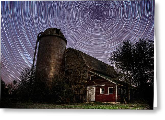 Star Barn Greeting Cards - Barn Trails Greeting Card by Aaron J Groen