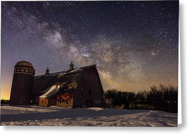 Star Barn Greeting Cards - Barn VII Greeting Card by Aaron J Groen