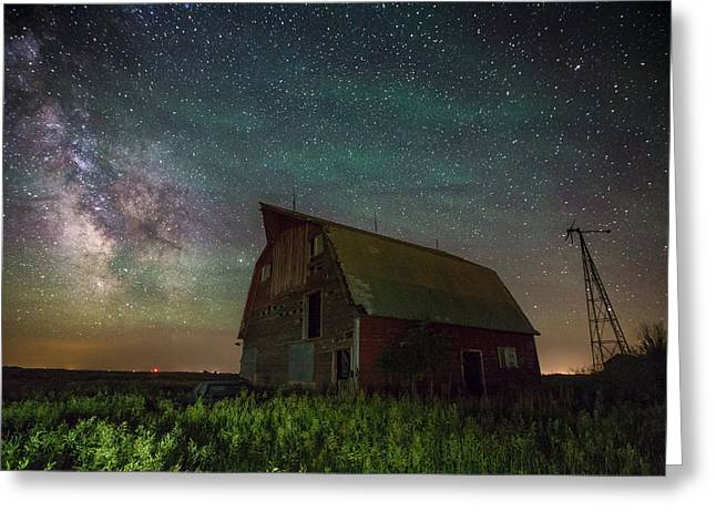 Star Barn Greeting Cards - Barn VIII Greeting Card by Aaron J Groen