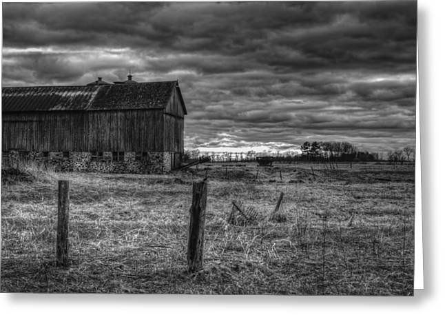 Wisconsin Barn Greeting Cards - Barn Yard Greeting Card by Thomas Young