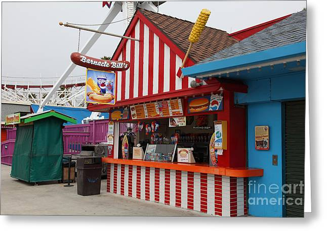 Barnacle Bills At The Santa Cruz Beach Boardwalk California 5D23626 Greeting Card by Wingsdomain Art and Photography