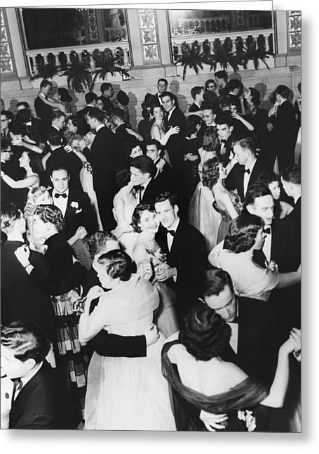 Barnard College Prom Greeting Card by Underwood Archives