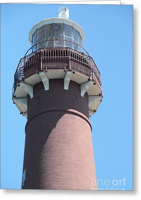 Lighthouse By The Sea Greeting Cards - Barnegat Bay Lighthouse Greeting Card by Cindy Manero