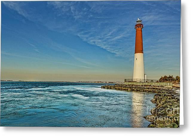 Barnegat Greeting Cards - Barnegat Lighthouse - LBI Greeting Card by Lee Dos Santos