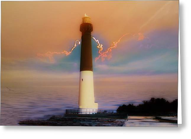 Barnegat Greeting Cards - Barnegat Lighthouse in New Jersey Greeting Card by Bill Cannon