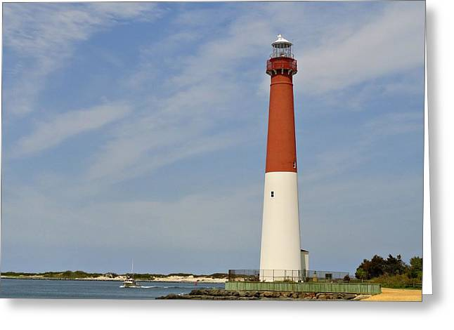 Barnegat Greeting Cards - Barnegat Lighthouse - Jersey Shore Greeting Card by Angie Tirado
