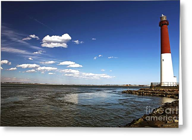 Barnegat Greeting Cards - Barnegat Lighthouse Greeting Card by John Rizzuto