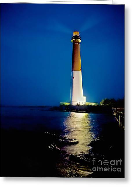 Lbi Greeting Cards - Barnegat Lighthouse Greeting Card by Mark Miller