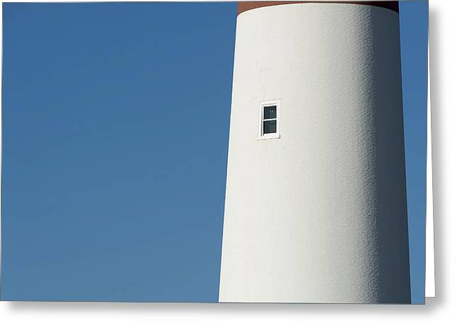 Bathroom Prints Greeting Cards - Barnegat Lighthouse NJ Minimalist Greeting Card by Terry DeLuco