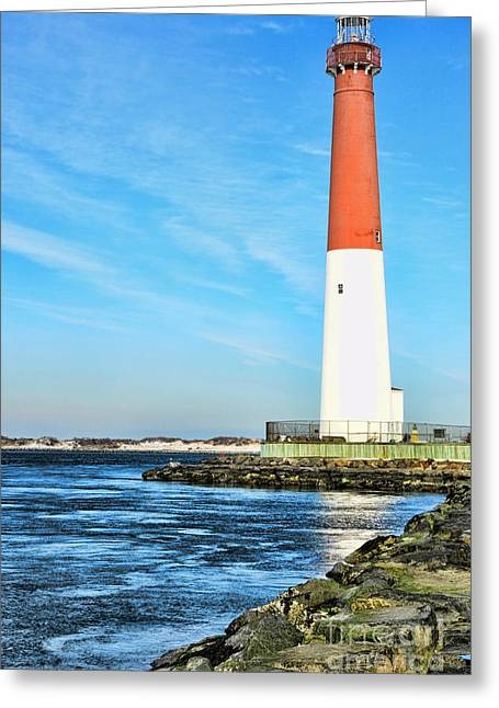 Barnegat Inlet Greeting Cards - Barnegat Lighthouse Greeting Card by Paul Ward