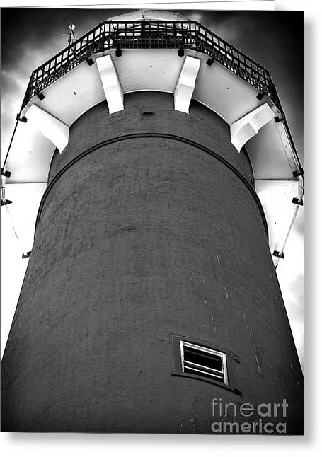 Black Top Greeting Cards - Barnegat Lighthouse Top Greeting Card by John Rizzuto