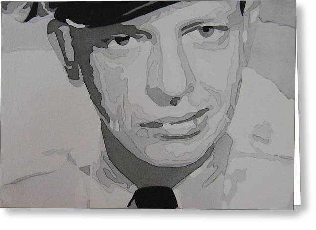 Andy Griffith Show Greeting Cards - Barney Fife Contrast Greeting Card by Jules Wagner