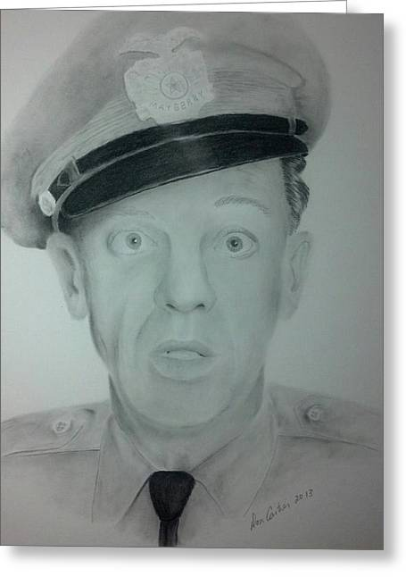 Don Knotts Greeting Cards - Barney Fife Greeting Card by Don Cartier