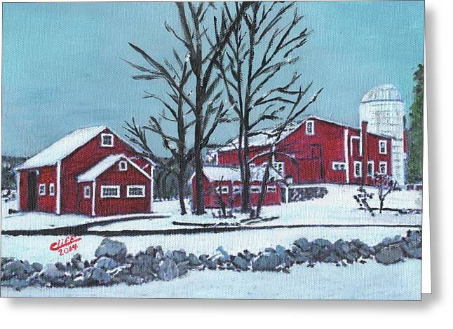 Northeastern University Greeting Cards - Barns at the Warren Conference Center Greeting Card by Cliff Wilson