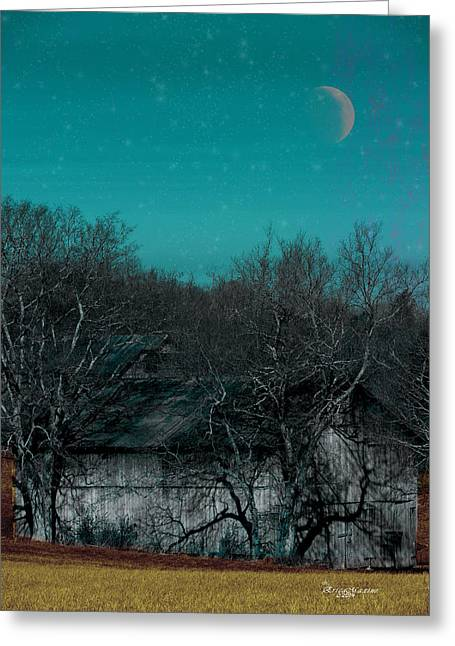 Tennessee Barn Digital Art Greeting Cards - Barns-featured in Visions of the Night Group Greeting Card by EricaMaxine  Price