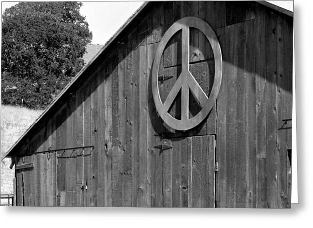 Western Culture Greeting Cards - Barns for Peace Greeting Card by Art Block Collections