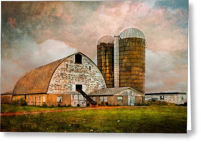 Freemont Greeting Cards - Barns in the Country Greeting Card by Debra and Dave Vanderlaan