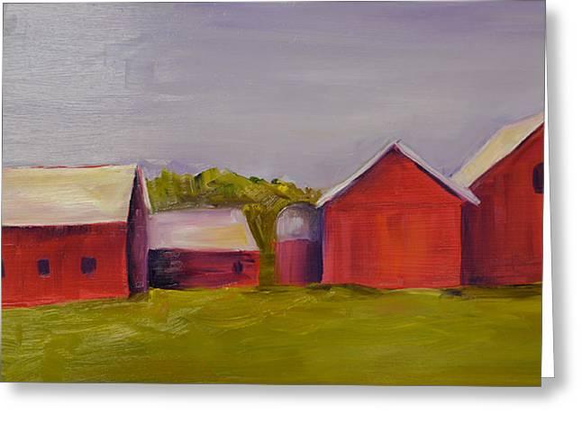 Barn Door Pastels Greeting Cards - Barns Near Sister Bay Greeting Card by Pat Olson
