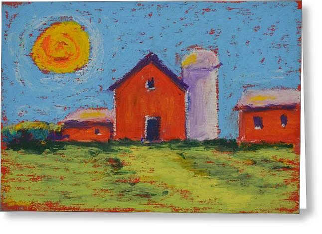Barn Door Pastels Greeting Cards - Barns near Sister Bay Wi. Greeting Card by Pat Olson