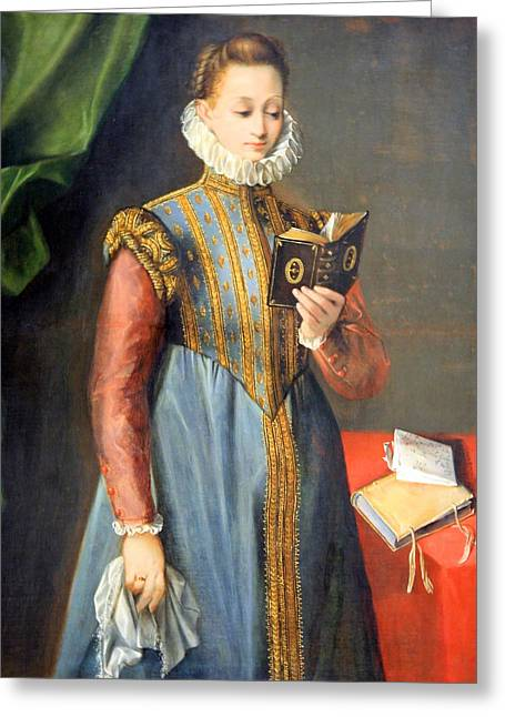 Barocci's Quintilia Fischieri Greeting Card by Cora Wandel
