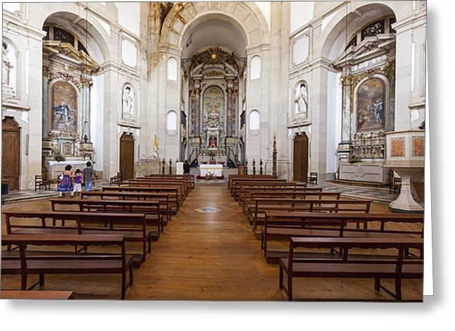 Jesus Greeting Cards - Baroque church interior Greeting Card by Jose Elias - Sofia Pereira