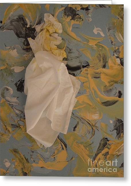 White Dress Sculptures Greeting Cards - Baroque Maiden Greeting Card by Nancy Kane Chapman