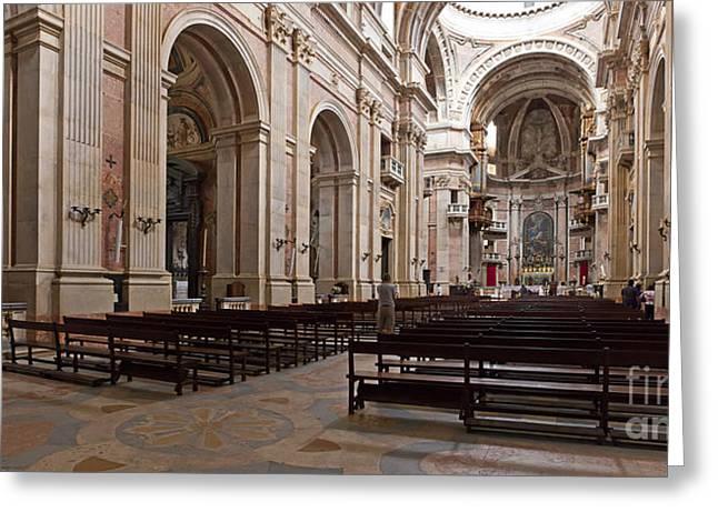 Mafra Greeting Cards - Baroque Palace  Greeting Card by Jose Elias - Sofia Pereira
