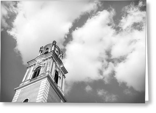 Barock Greeting Cards - Baroque Tower Greeting Card by Regina Spanny
