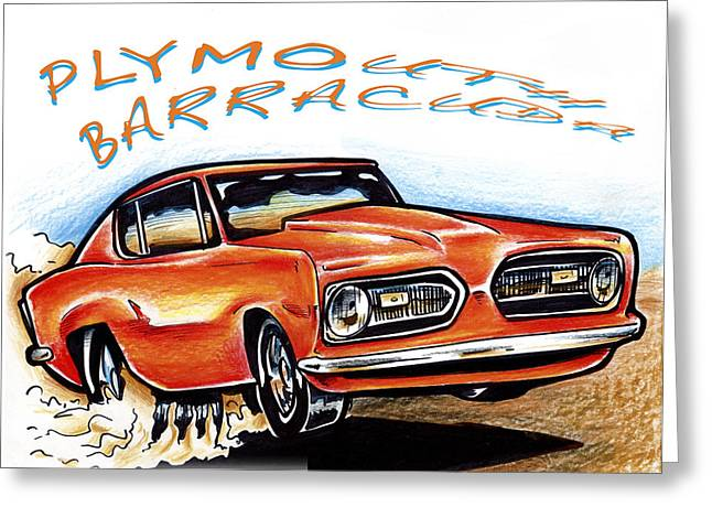 I Roate This Drawings Greeting Cards - Barracuda Greeting Card by Big Mike Roate
