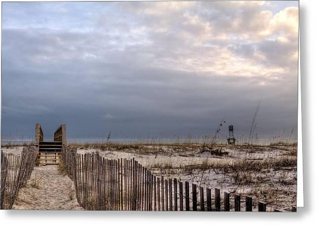 Barrancas Beach Greeting Card by JC Findley
