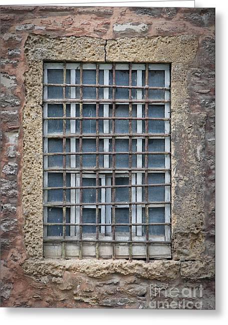 Barred Window Greeting Card by Antony McAulay