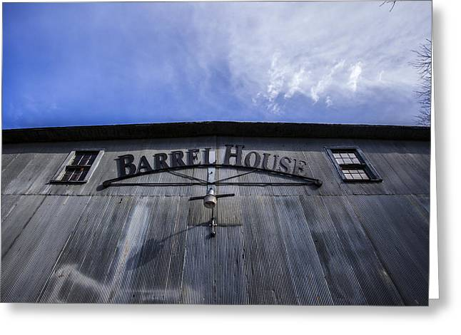 Old Barrels Greeting Cards - Barrel House One Greeting Card by CJ Schmit