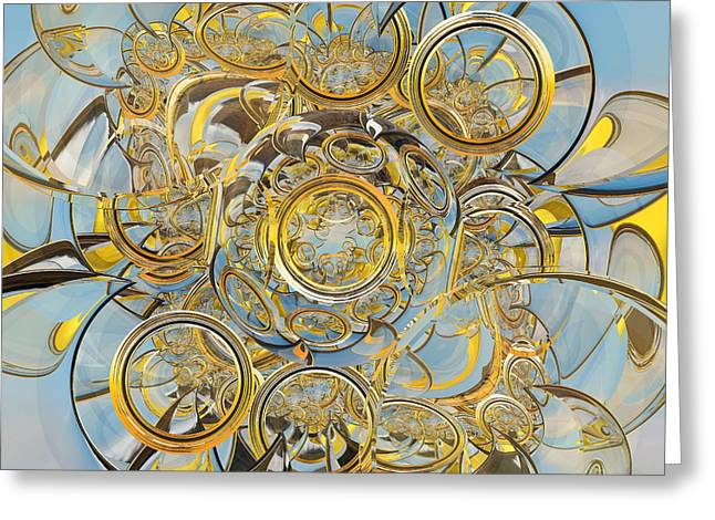 Glasses Reflecting Digital Greeting Cards - Barrel Lenses and Glass Crescents Hawaiian Sunset Greeting Card by Peter J Sucy