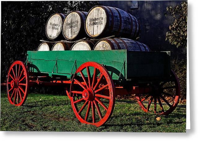 Maker Greeting Cards - Barrel Wagon Greeting Card by Lone  Dakota Photography