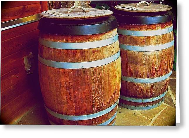 Coopersmith Greeting Cards - Barrels  Greeting Card by Lynn R Morris