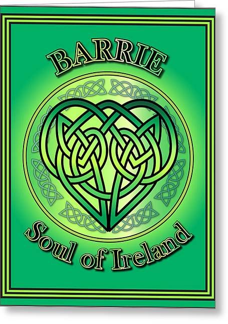 Barrie Greeting Cards - Barrie Soul of Ireland Greeting Card by Ireland Calling
