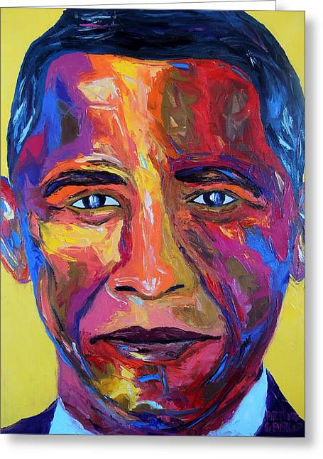Barack Greeting Cards - Barry Greeting Card by Arturo Garcia