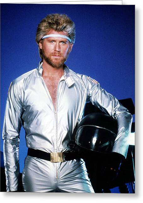Barry Greeting Cards - Barry Bostwick in Megaforce  Greeting Card by Silver Screen
