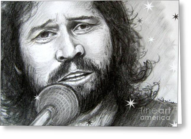 Barry Gibb Greeting Card by Patrice Torrillo