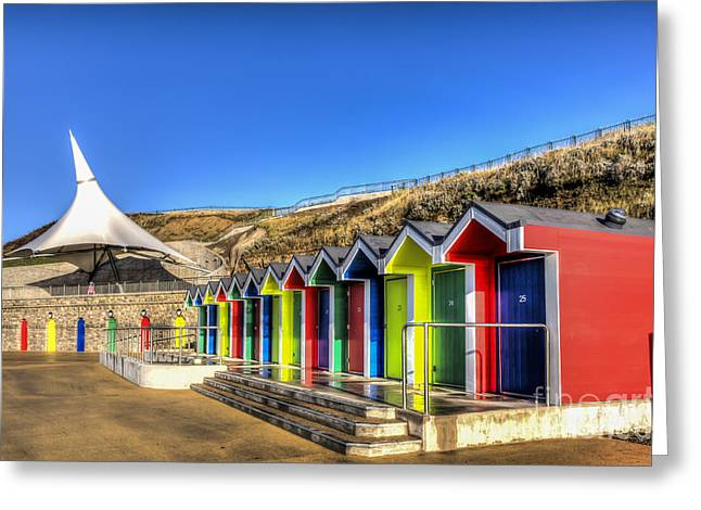 Vale Greeting Cards - Barry Island Beach Huts 11 Greeting Card by Steve Purnell