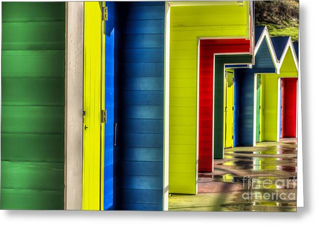 Vale Greeting Cards - Barry Island Beach Huts 13 Greeting Card by Steve Purnell