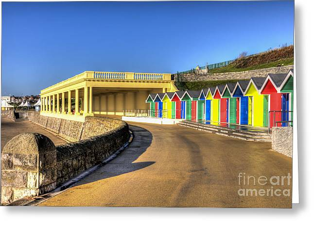 Vale Greeting Cards - Barry Island Beach Huts 8 Greeting Card by Steve Purnell