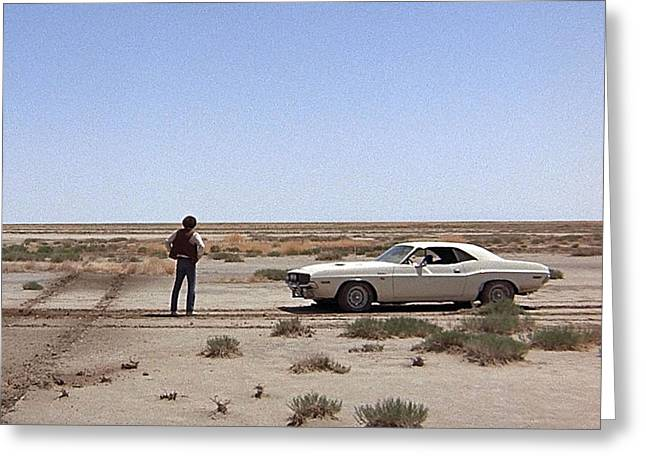 Vanishing Greeting Cards - Barry Newman in Vanishing Point  Greeting Card by Silver Screen