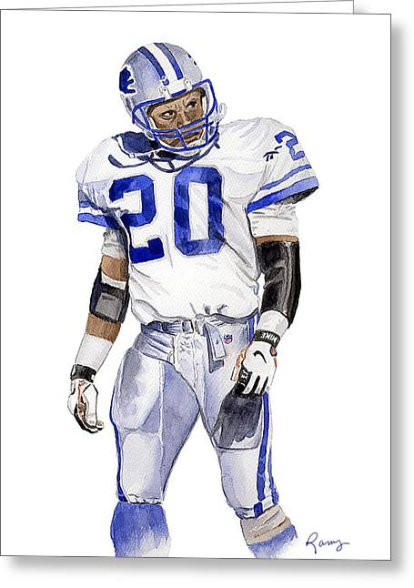 Run Down Paintings Greeting Cards - Barry Sanders Greeting Card by Timothy Ramos