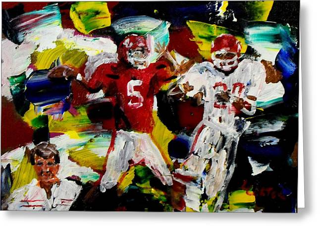 Heisman Greeting Cards - Barrys Boys Greeting Card by Larry Carter