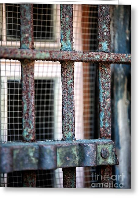 Window Bars Greeting Cards - Bars Greeting Card by John Rizzuto