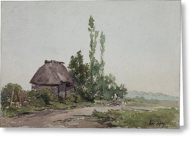 Thatch Greeting Cards - Barstaimat, Forest Of Mormul Wc On Paper Greeting Card by Henri Duhem