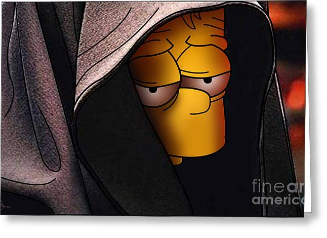 Bart Simpson Greeting Cards - Bart Simpson Dark Side Greeting Card by Ehud Shomron