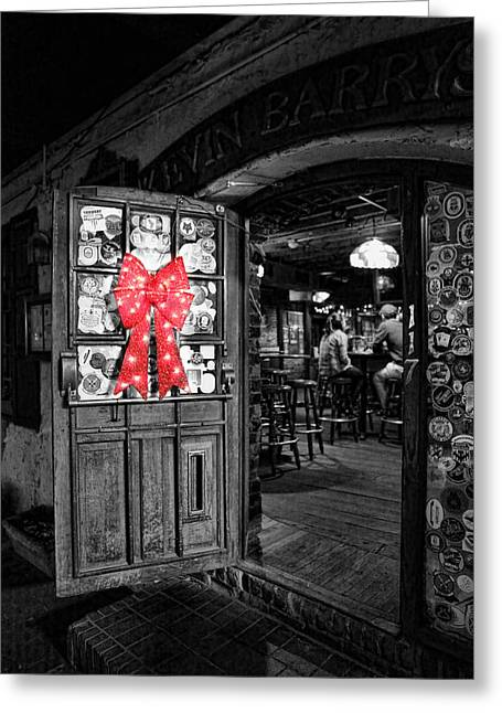 Twentieth Century Greeting Cards - Bartender - One Last Christmas Drink Greeting Card by Lee Dos Santos
