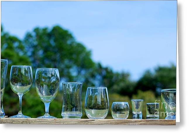 Long Stem Wine Glass Photographs Greeting Cards - Bartender Wanted Greeting Card by GD Rankin